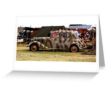 WWII Mercedes Staff Car Greeting Card