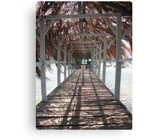 Walk on the sea - Martinique - FWI Canvas Print