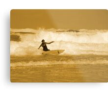 Catching the Waves Metal Print