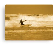 Catching the Waves Canvas Print