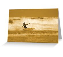 Catching the Waves Greeting Card