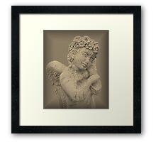 Little Angel Praying Framed Print