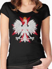 Polish Eagle Maltese Cross Women's Fitted Scoop T-Shirt