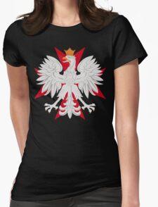 Polish Eagle Maltese Cross Womens Fitted T-Shirt
