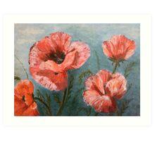 Pink Poppies [006] Art Print