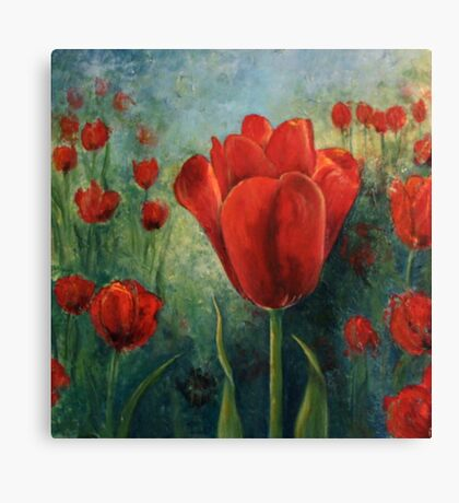 Red Tulips [002] Canvas Print