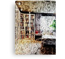 Library, charming, cozy  Canvas Print
