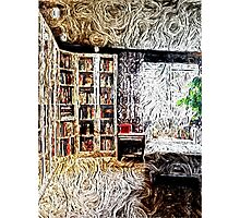 Library, charming, cozy  Photographic Print