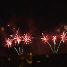 Fire Works Show Stippled Painting effect by Dawnsuzanne