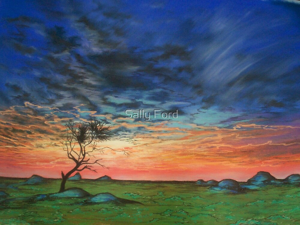 Rainbow Sunset by Sally Ford