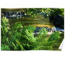 Listen to the Babbling Brook - Green Summer Fun Impressions Poster
