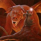 Gandalf fighting the Balrog by John Silver