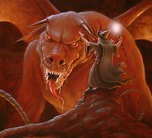 Gandalf fighting the Balrog by John Silver