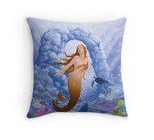 Where Mermaids play Throw Pillow