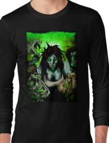 Zombies Want Brains Long Sleeve T-Shirt