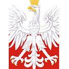 Polska Poland White Eagle Flag by PolishArt