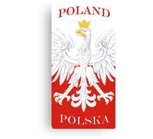 Polska Poland White Eagle Flag Canvas Print