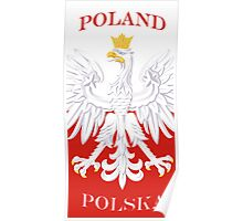 Polska Poland White Eagle Flag Poster