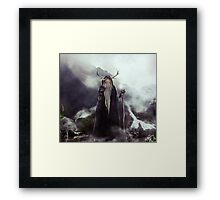 Ghost of Mountains Framed Print