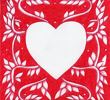 Red Ink Heart by Donna Huntriss