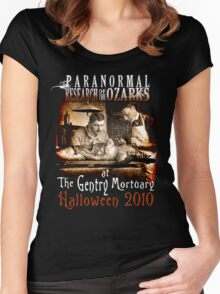 Halloween at the Gentry Mortuary Women's Fitted Scoop T-Shirt
