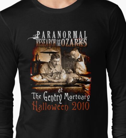 Halloween at the Gentry Mortuary Long Sleeve T-Shirt