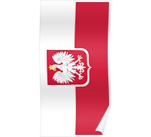 Vintage Polish Coat of Arms Flag Poster