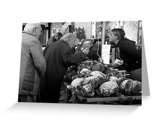 Getting the Right Price ~ Civitavecchia, Italy  Greeting Card