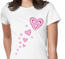 Celtic Hearts Womens Fitted T-Shirt