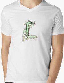 Celtic Oscar letter L Mens V-Neck T-Shirt