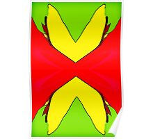 Wild Butterfly Abstract Poster