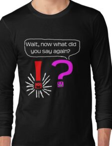 Question mark meets exclamation Long Sleeve T-Shirt