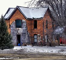 The Old Brick Homestead by wiscbackroadz