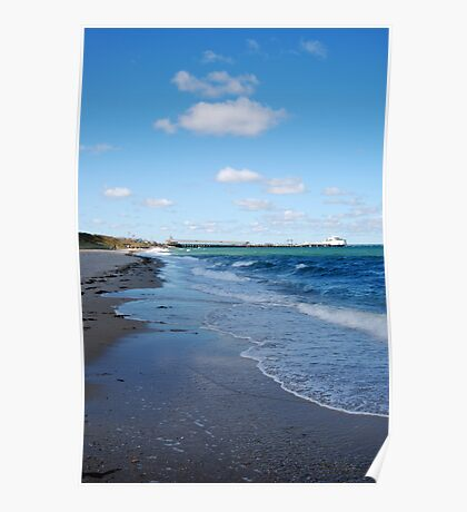 Breezy Blue Water Poster