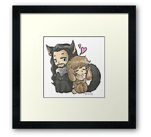 The Bunny and The Wolf Framed Print