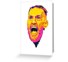 Conor McGregor Abstract Greeting Card