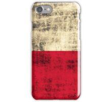 Vintage Grunge Polish Flag iPhone Case/Skin