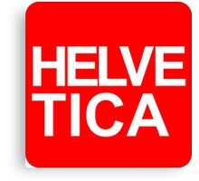 Helvetica Caps Canvas Print