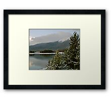 October snow in Summit County Colorado Framed Print
