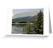 October snow in Summit County Colorado Greeting Card