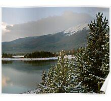 October snow in Summit County Colorado Poster