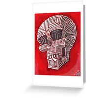 Conquest of The Scrimshaw Skull Greeting Card