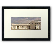 urban landscape 4 - man alone Framed Print