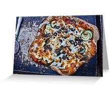 Vegetarian Brick Oven Pizza Greeting Card