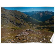 Looking out over the Ice Lake Basin Poster