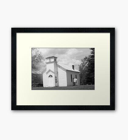 old timey church Framed Print
