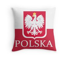 Patriotic Polish Polska Flag Throw Pillow