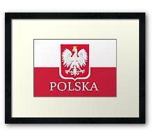 Patriotic Polish Polska Flag Framed Print