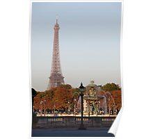 Eifel Tower at Place de la Concorde Poster