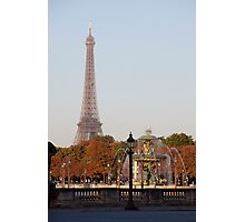 Eifel Tower at Place de la Concorde Photographic Print